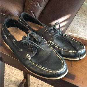 Polo boat shoe black